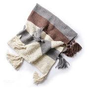 Caron Tassel Down Crochet Blanket
