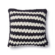 Bernat Alize EZ Two Color Criss-Cross Pillow