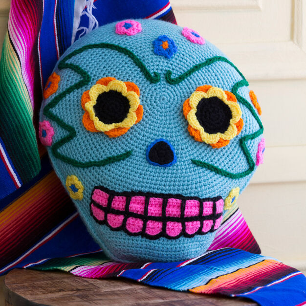 Red Heart Day of the Dead Pillow