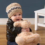 Red Heart Double Chevron Beanie, Toddler