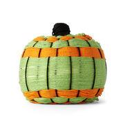 Red Heart Hand Woven Yarn Wrapped Pumpkin