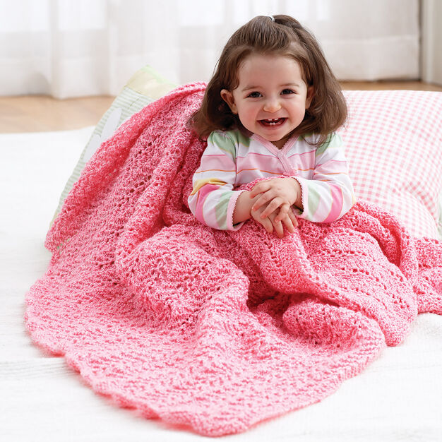 Bernat Knit Blanket in color