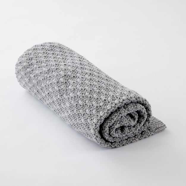 Caron Toasty Texture Knit Blanket