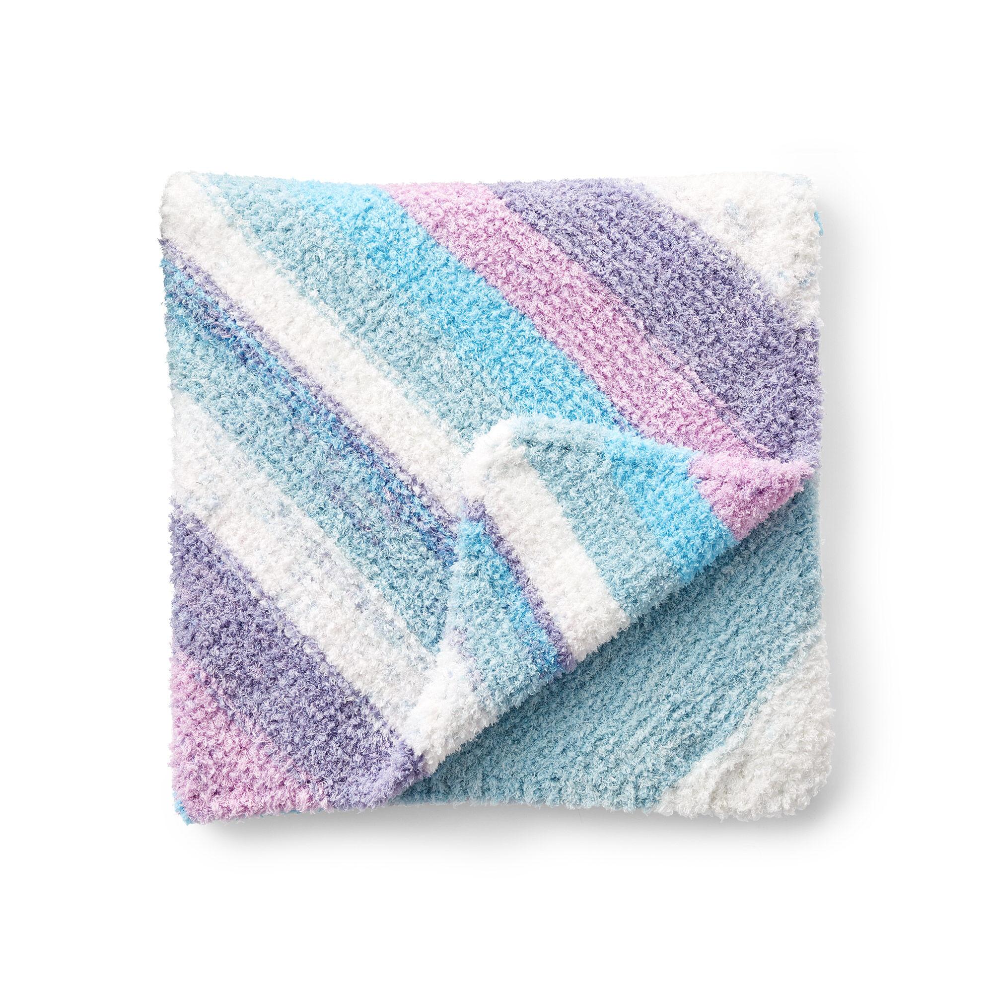 Bernat Slumber Stripes Knit Baby Blanket Pattern ...