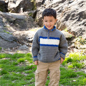 Red Heart Rugby Pullover, 4 yrs