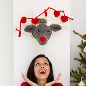 Red Heart Reindeer Wall Plaque