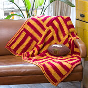 Red Heart Knit Stadium Lapghan