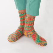 Bernat Staggered Rib Socks, Size 5/6