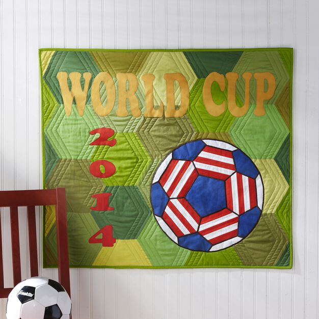 Dual Duty World Cup Quilt in color
