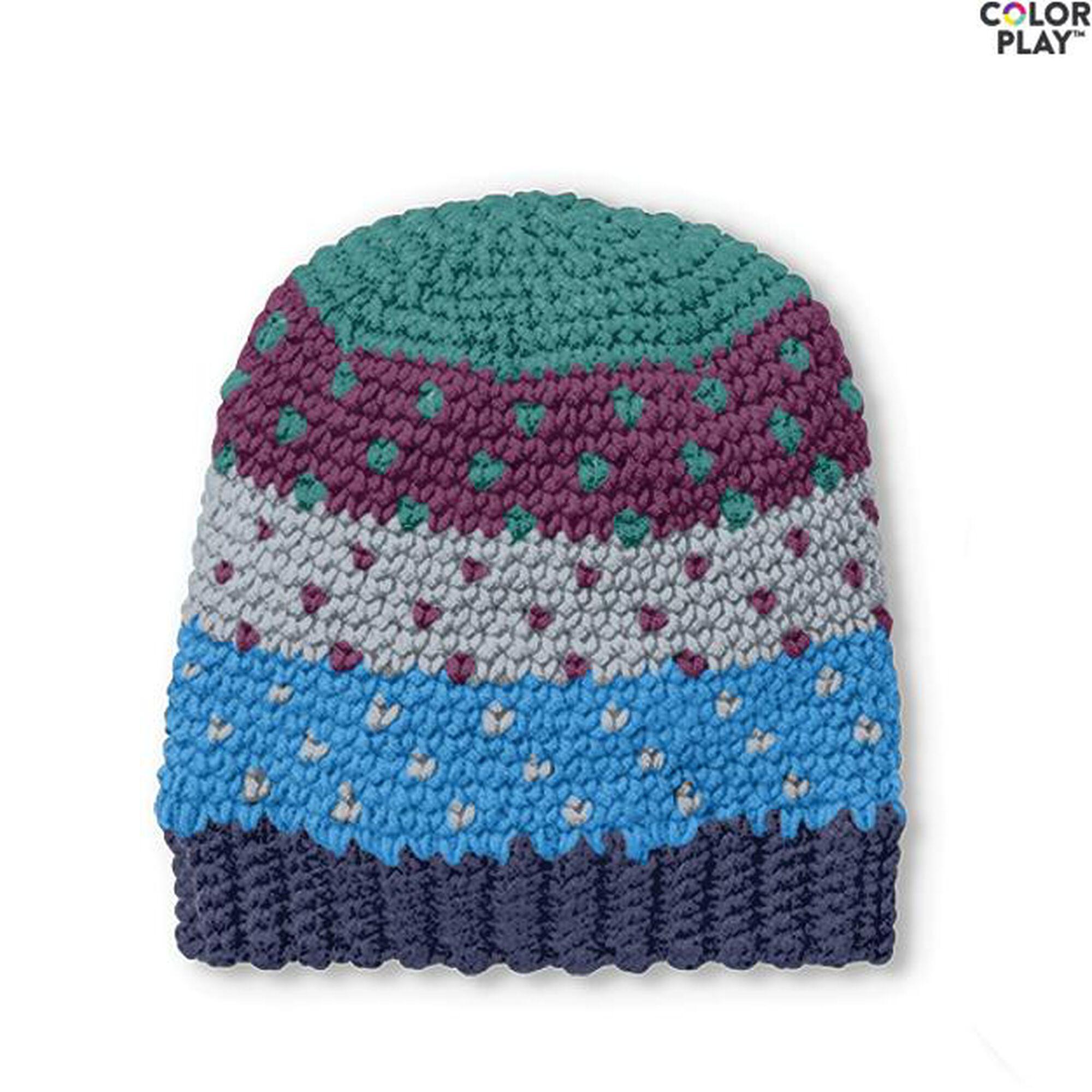 Caron X Pantone Crochet Fair Isle Hat Free Pattern Yarnspirations