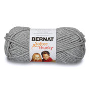 Go to Product: Bernat Softee Chunky Yarn (100g/3.5oz) in color Gray Heather