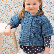 Red Heart Cool Cables Sweater & Leg Warmers, 4 yrs