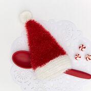 Red Heart Santa Hat Scrubby Mitt