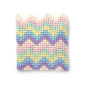 Caron Rainbow Crochet Blanket
