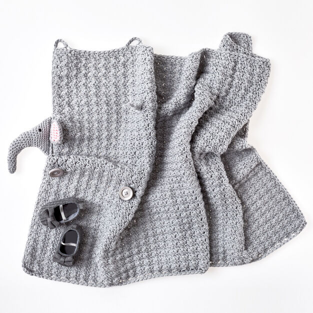 Crochet Elephant Baby Blanket and Matching Toy Pattern - | 626x626