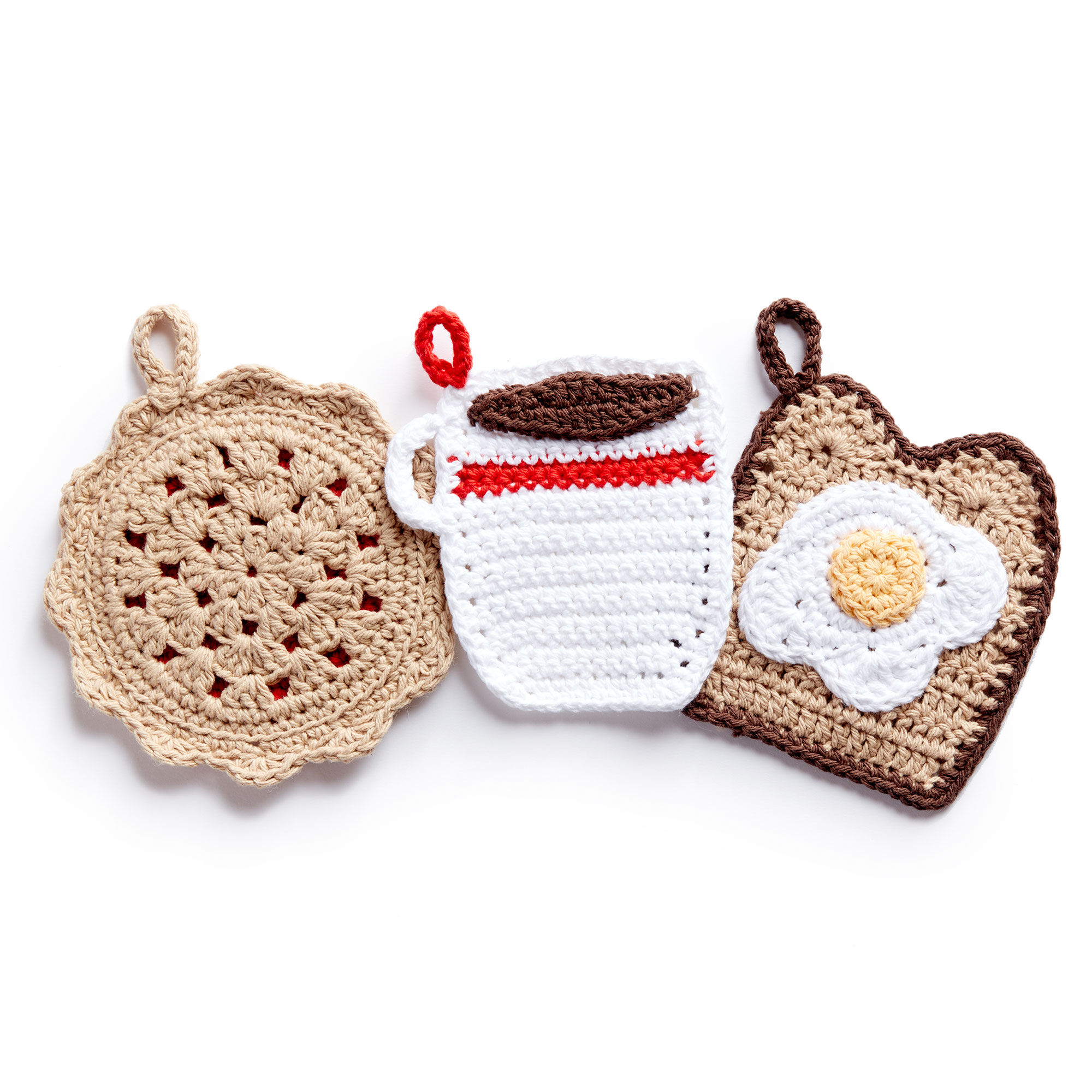 Lily Sugarn Cream Crochet Pot Holder Diner Trio Yarnspirations
