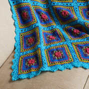 Red Heart Festive Squares Throw