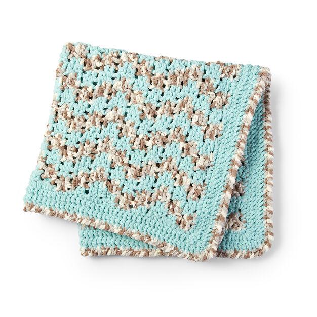 Bernat Baby Bargello Crochet Blanket