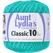 Go to Product: Aunt Lydia's Classic Crochet Thread Size 10, Jade in color Jade