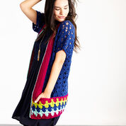 Red Heart Bohemian Chic Color Cardi, S