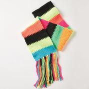 Caron Simple Stripes Crochet Scarf