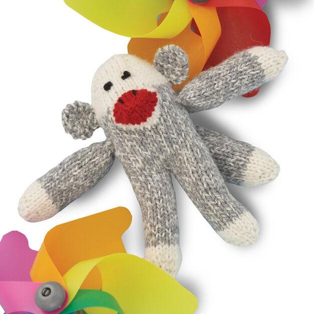 Patons Knit Mini Sock Monkey in color