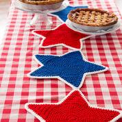 Red Heart Americana Star Table Runner