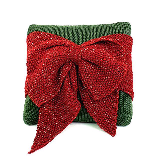 Caron Christmas Bow Pillow