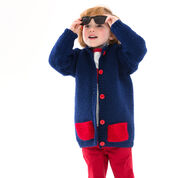 Red Heart Too Cool Boy's Cardigan, 2 yrs