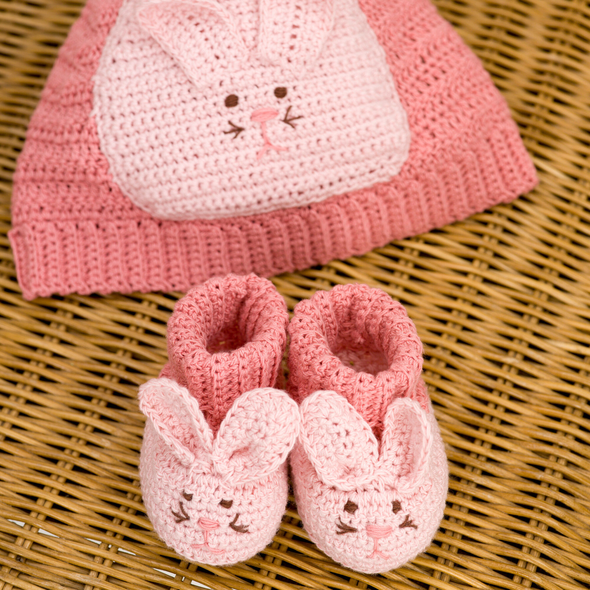 Aunt Lydia's Bunny Hat & Booties | Yarnspirations