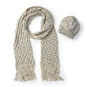 Caron Easy Knit Hat & Scarf, Hat
