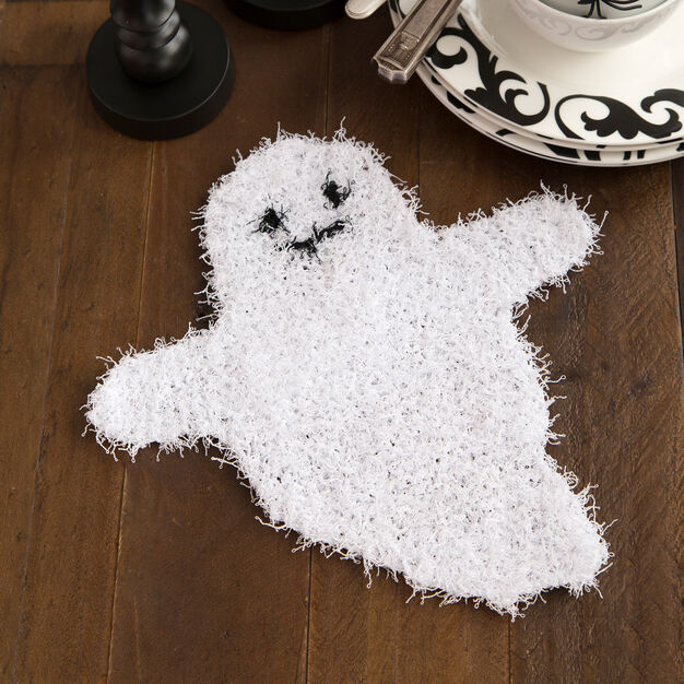 Red Heart Ghostly Dish Scrubber in color