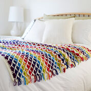 Red Heart Rainbow Chic throw