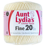 Go to Product: Aunt Lydia's Fine Crochet Thread Size 20 in color Natural