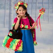 Red Heart Flower Princess Dress & Cape, 2/3 yrs