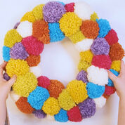 Bernat Pompom Party Wreath