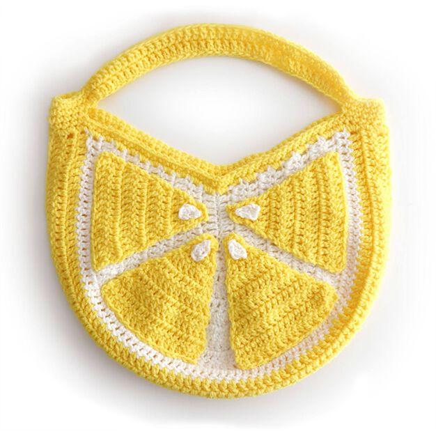 Red Heart Crochet Lemon Tote in color