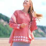 Patons Mitered Squares Tunic, S