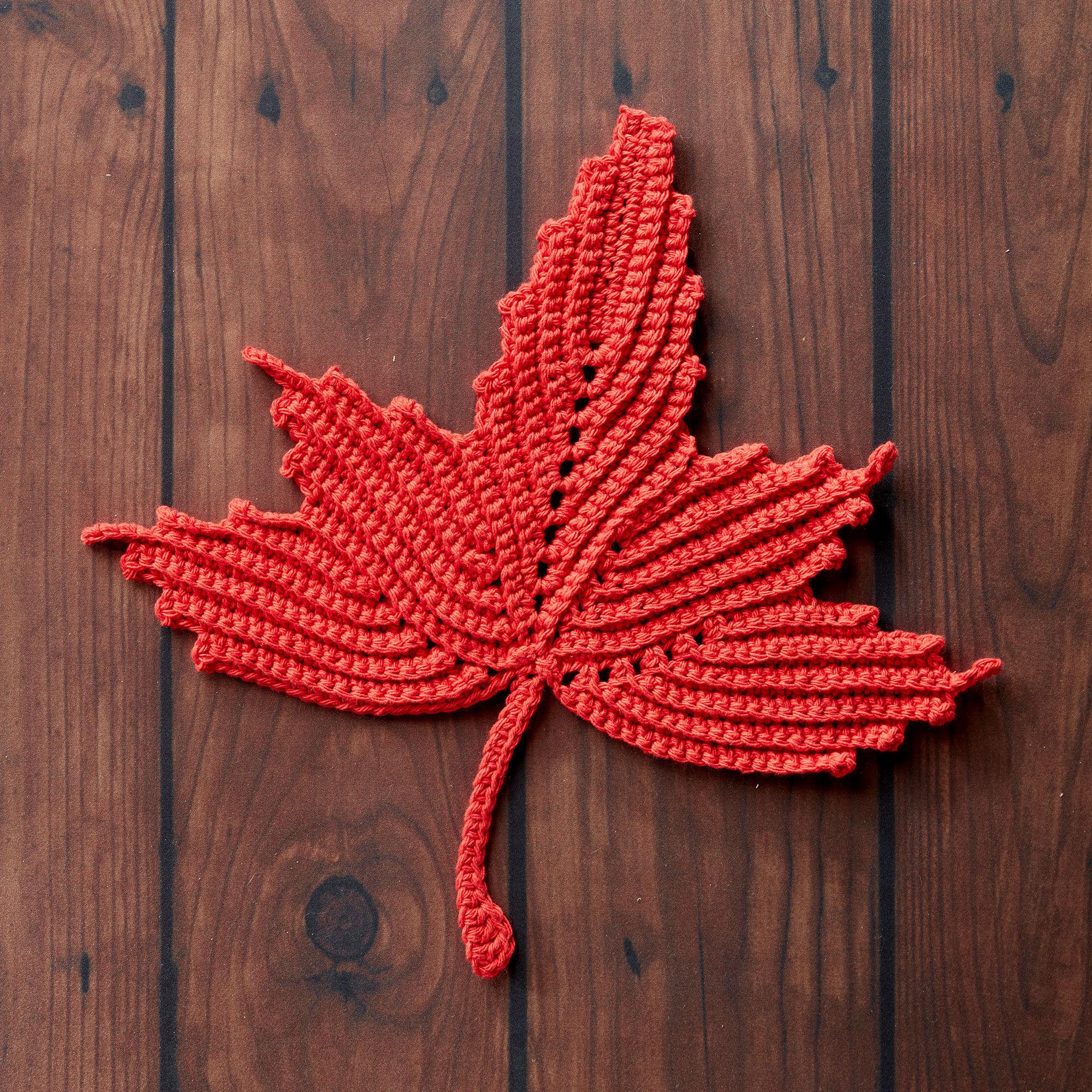 Bernat Maple Leaf Crochet Dishcloth | Yarnspirations