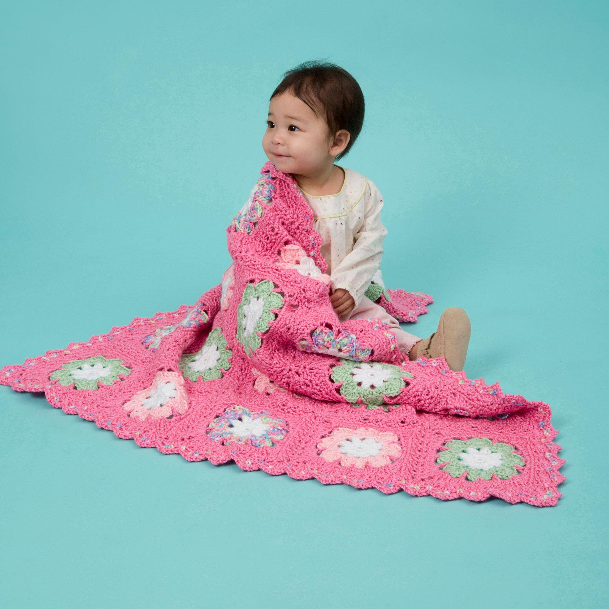 Red Heart Flower Baby Blanket | Yarnspirations
