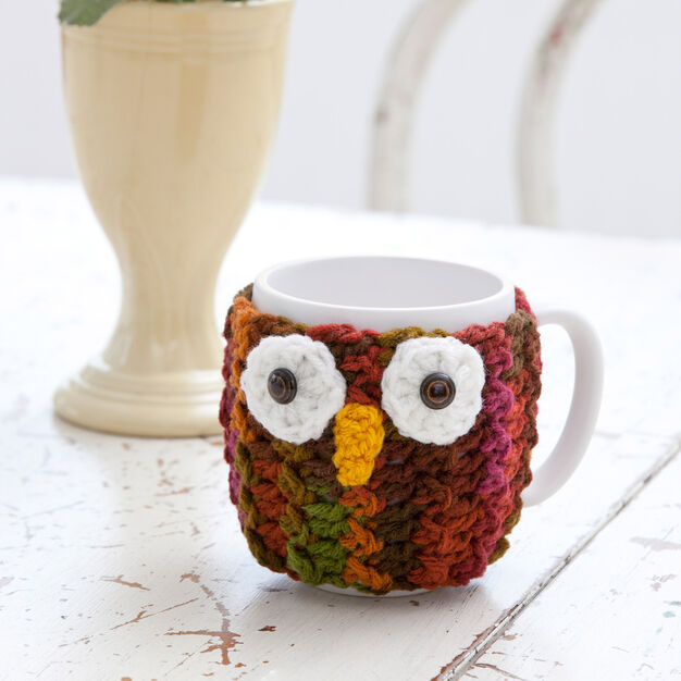 Red Heart Owl Mug Wrap in color