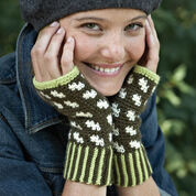 Patons Fair Isle Fingerless Mitts, Version 1