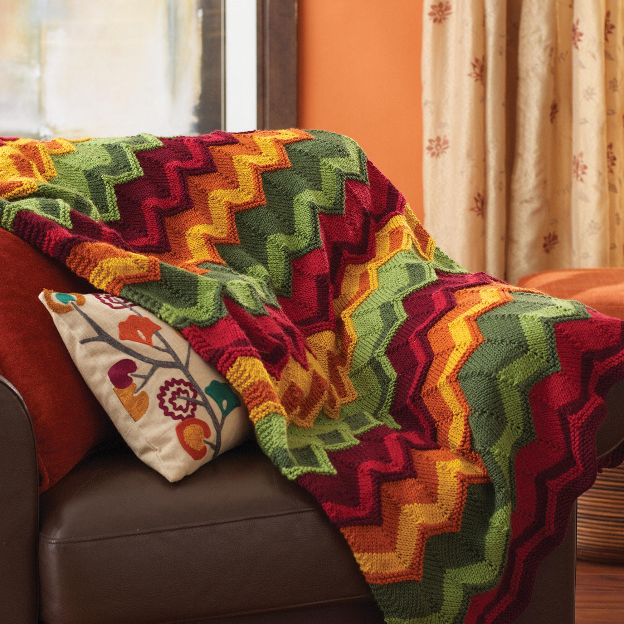 Patons Spicy Chevron Blanket Yarnspirations