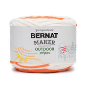 Go to Product: Bernat Maker Outdoor Stripes Yarn, Fresh Orange Stripe - Clearance Shades* in color Fresh Orange Stripe