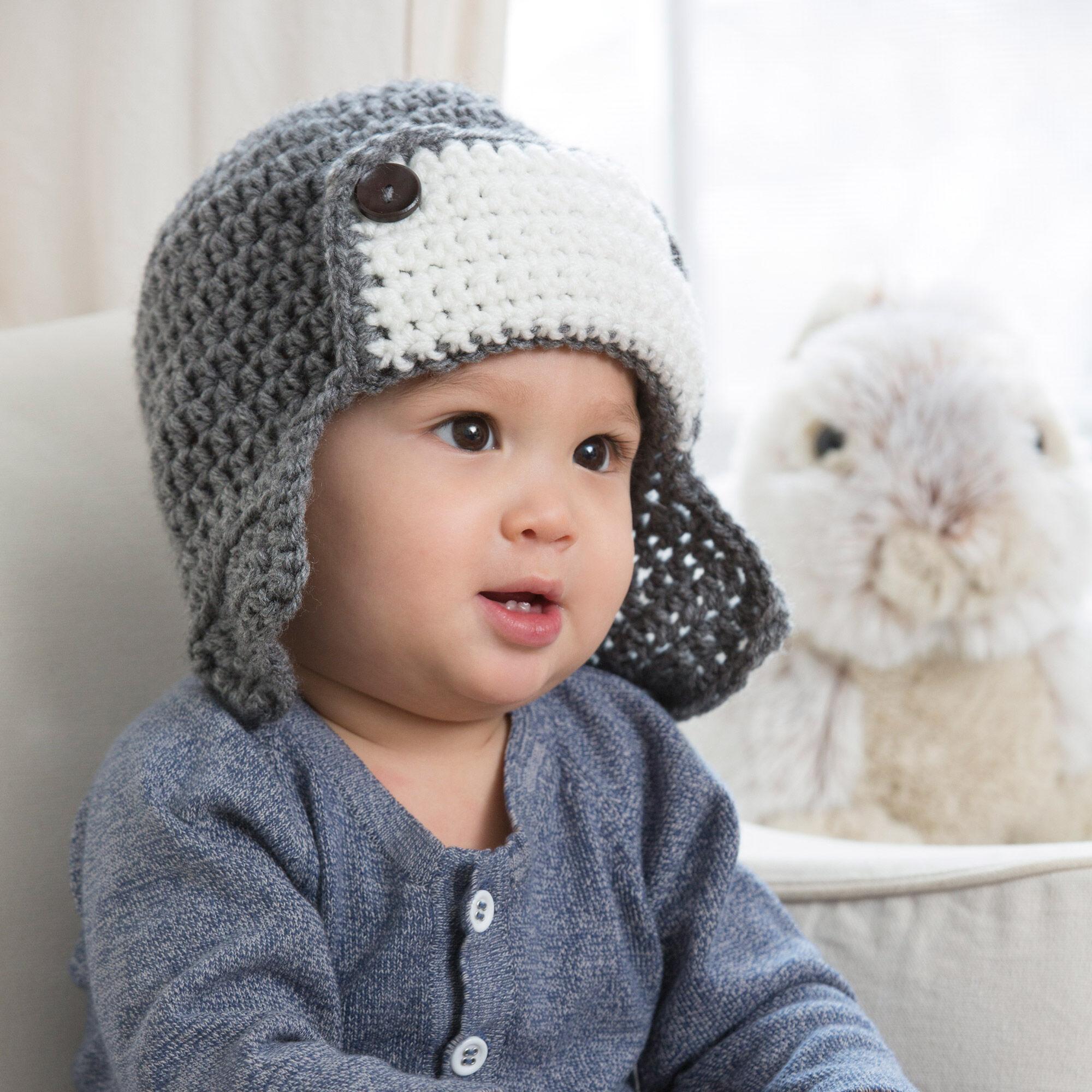 Red Heart Little Lindy's Aviator Hat   Yarnspirations