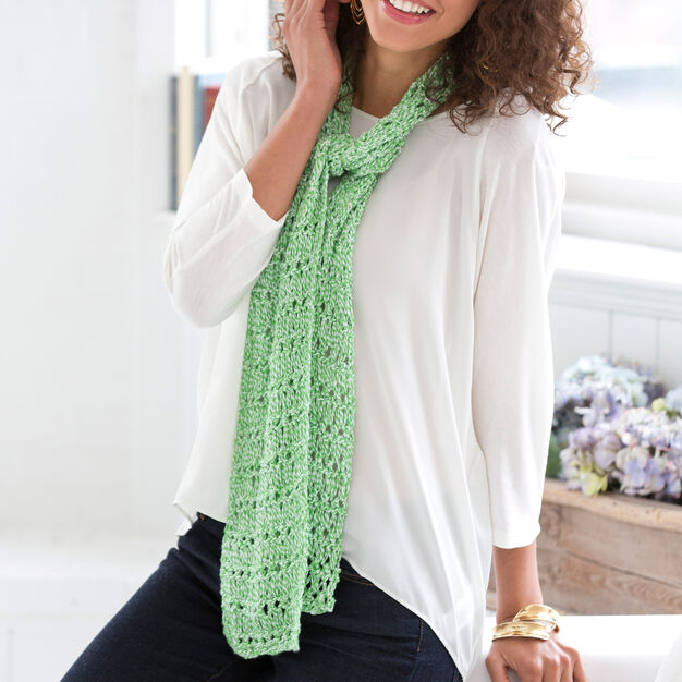 Aunt Lydia's Drop Stitch Spring Scarf in color