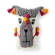 Go to Product: Bernat Alize EZ Festive Llama Knit Pillow in color