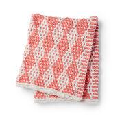 Bernat Mosaic Stitch Knit Blanket