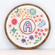 Go to Product: Anchor Circle of Flowers Hand Embroidery Design in color