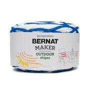 Bernat Maker Outdoor Stripes Yarn, Fresh Royal Blue Stripe - Clearance Shades*